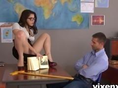 Lina Napoli and Valentina Nappi classroom blowjob