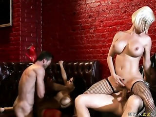 Oriental gets satisfaction with lesbian Johnny Sins  Jordan Ash  Scott Nails