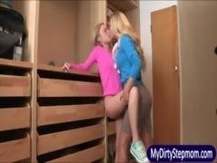 Blonde teen Dakota Skye and hot cougar Cherie Deville trio fun free