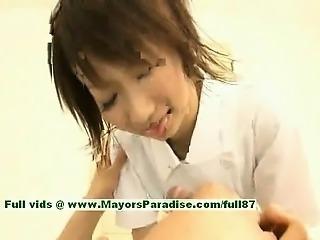 Miriya Hazuki innocent chinese girl giving a blowjob