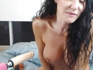 Huge Boobs MILF Plays and Fucks a Big Dildo