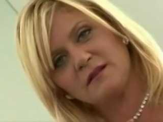 blonde chubby mature suck fuck and cum