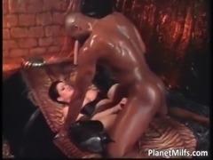 Horny black stallions fucks busty MILF free