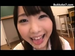 Japan School Teen Drenched With Jizz