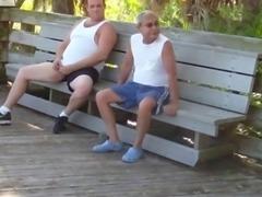 older gays have sex in public park
