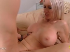 Hot blonde MILF Emma Starr gets her tight pussy filled with a huge cock