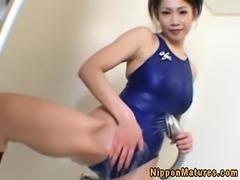 Japanese asian mature giving titfuck