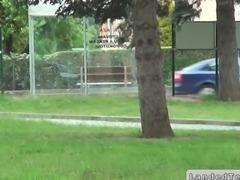 Stranger picks up and fucks a dumb teen in car