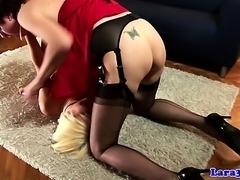 Classy english mature spanks blonde milf