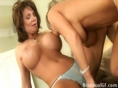 Two housewifes having sex on the bed free