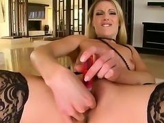 Check up nice masturbation from sweet-looking blondie Samantha Ryan. Gal in...