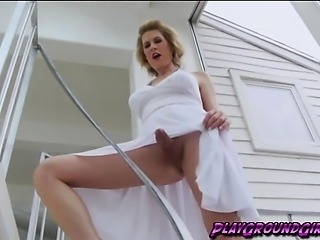 lovely christian on white dress