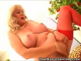 We have these naughty older women as they tag team a lone stud. Watch as they fuck him out and take turns with that cock.