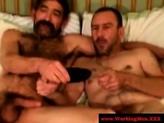 Smoking hairy bears fuck tight ass