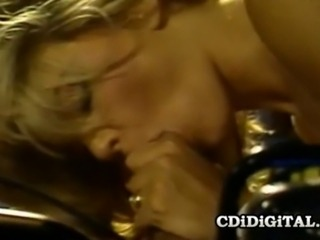 Fit blonde babe Stacey Donovan gets her pussy pleasured by her horny man.