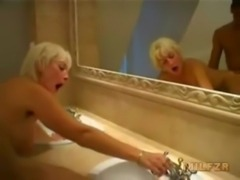 Old mother fucked by son in bathtub free