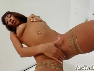 Shanis preps her ass for some hard fucking. She squirts like crazy as her ass...