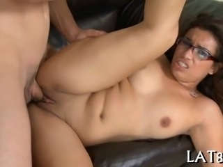 Sexy stud drills hot chick from behind until she is totally sore