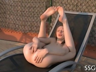 Young beauty is getting a sensual massage from girlfriend