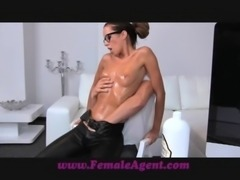 FemaleAgent MILF gets all oiled by massuse stud free