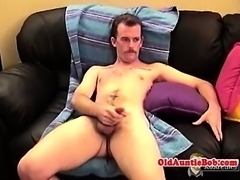 Auntie queen cumming as he plays with himself