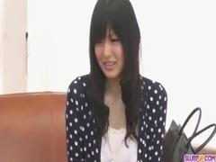 Nozomi Koizumi strips naked and gives an asian blowjob free