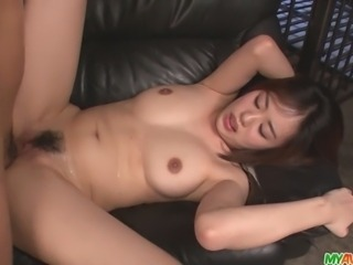 Mmm, check out the big tits on Yuna Satsuki, as this MILF is going to get fucked deep and hard here. She takes a strong japanese fuck well, as her tight pussy squeezes his dick tightly as he´s ready to cum, getting a messy creampie oozing out of her slit.