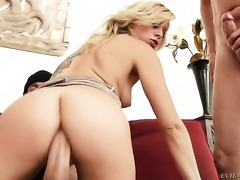 Criss Strokes fucks Zoey Monroe as hard as possible in anal porn action after...