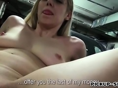 Czech girl Ellen flashes tits and fucked for some cash