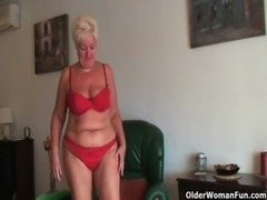 Busty and curvy grandma Sandie collection free