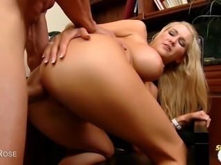 Hot blonde Blake Rose gets fucked in the ass and then takes a load of cum to the face