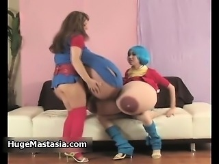 Two horny busty babes go crazy rubbing part1