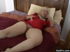BBW mom masturbates free