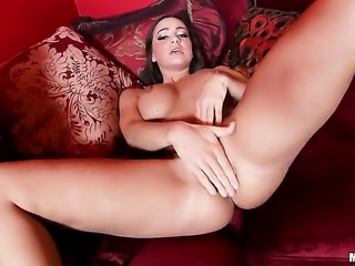 Attractive chick Abigail Mac wants this masturbation session to last forever