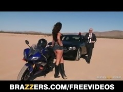 Busty biker beauty Destiny Dixon gets caught speeding free