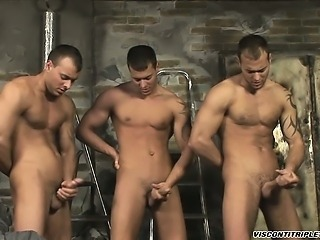 The three Brothers are ready for some stroking after work!