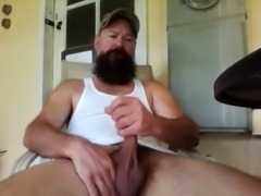 Redneck Pipe Smoking and Stroking