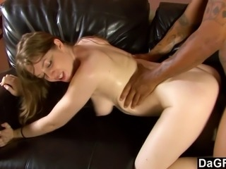 This guy always wanted to see his girlfriend get fucked by another man and she on the other hand always wanted to get plowed by a black man. Seems like both are pretty satisfied here.