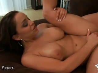 Liza Del Sierra gets her big boobs fucked before taking it up the ass