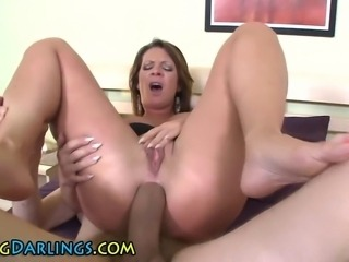 Ass fucked babe fingers her pussy and sucks big cock