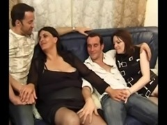 FRENCH MILF WITH HAIRY PUSSY HAS A HOT FUCKING THREESOME free