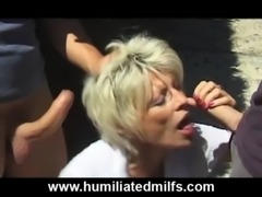 Nasty Gilf Pisses & Fucks Outdoors free