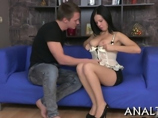 Horny dude is charming babe with his salacious pussy drilling
