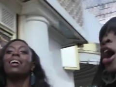 White guy bangs three black beauties at hotel