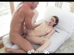 Pretty redhead deepthroat and fucked in the ass