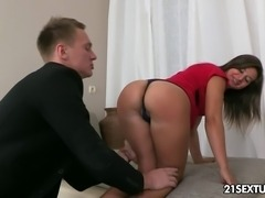 Vicca, the cute and submissive little brunette would do anything for Arty...