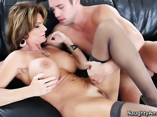 Deauxma with round butt and her hot bang buddy Johnny Castle are in the mood for fucking