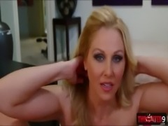 Sultry MILF vixen Julia Ann gets nasty on a rock hard dick free