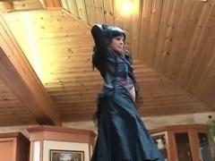 German is flashing her teen pussy
