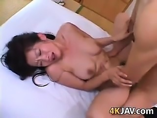 Horny Japanese MILF In A Threesome